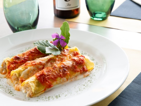 Hausgemachte Cannelloni-Restaurant Hotel Alla Fonte-Arta Terme-Karnien