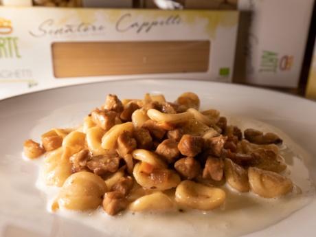 Orecchiette-Pasta Senatore Cappelli-RestaurantHotel alla Fonte-Arta-terme-Karnien